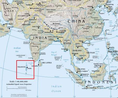 The Maldives And Rising Sea Levels - Political map of maldives