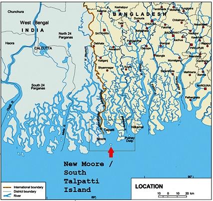 New Moore Island Dispute Between India And Bangladesh