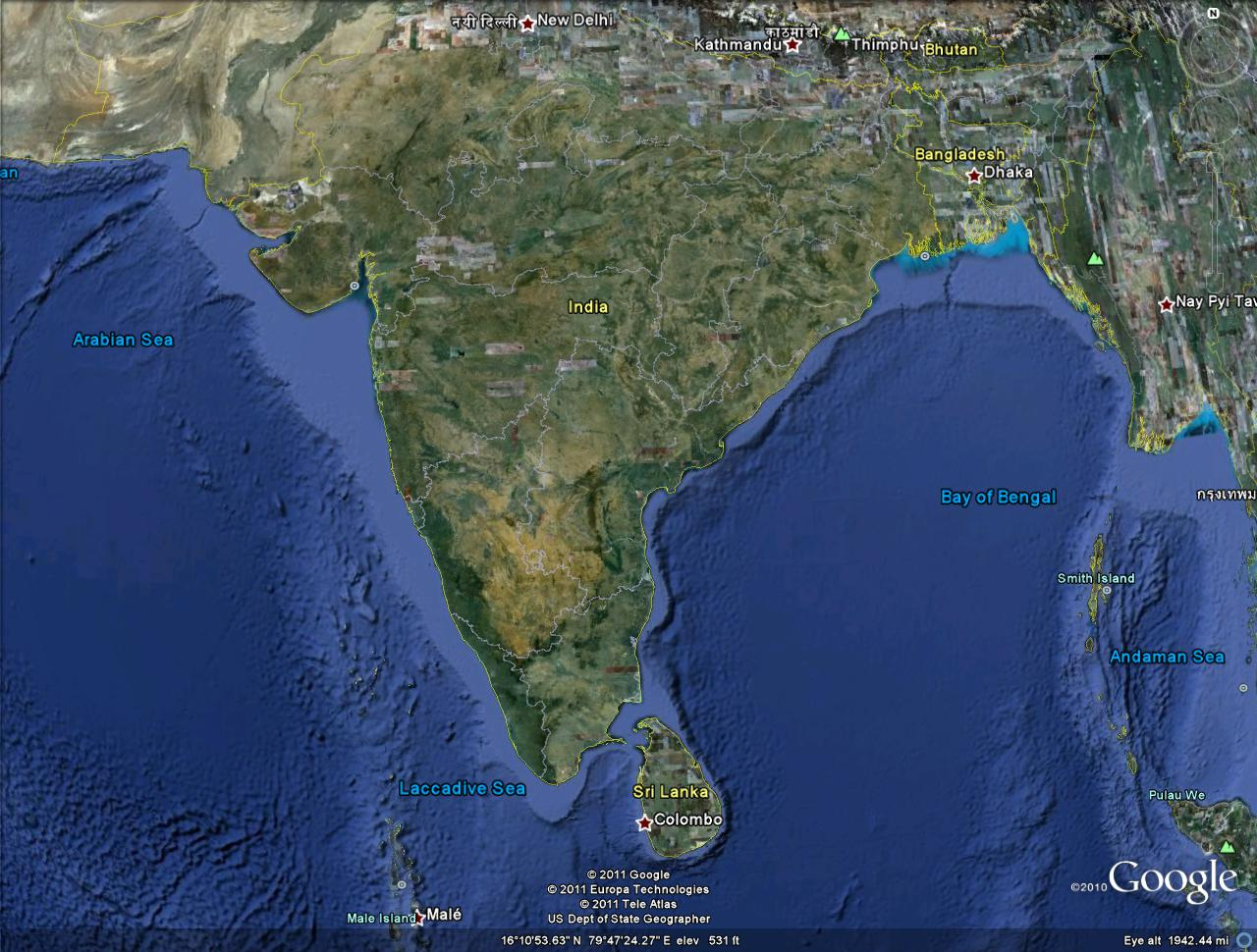 live india map google earth