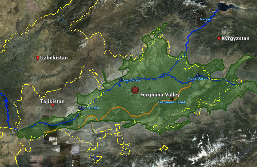 main map Ferghana Valley ICE Case Study