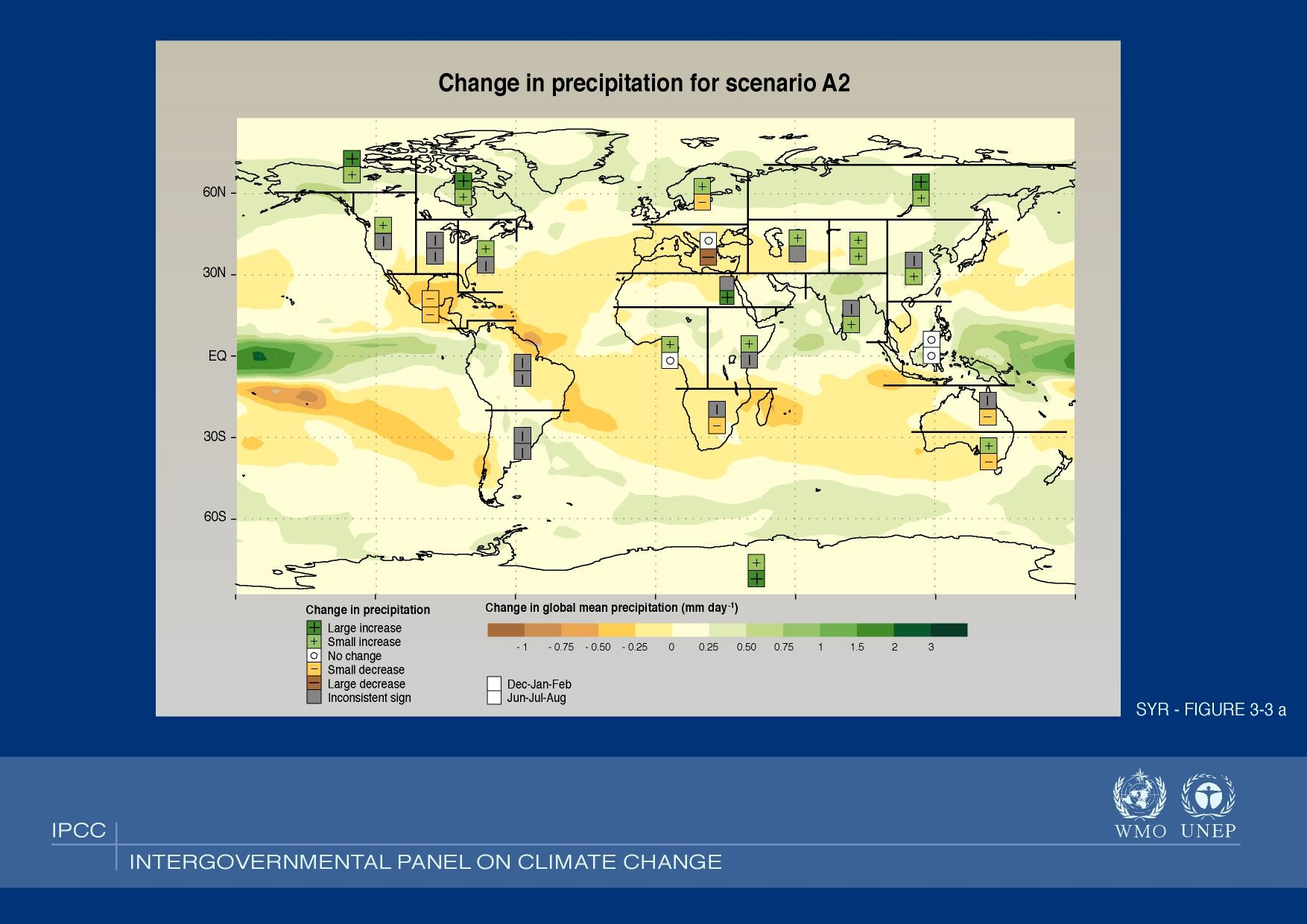 Precipitation Change in the IPCC's Scenario A2